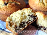 Muffins à la farine de maïs et pépites de chocolat