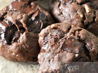 Cookies tout chocolat au beurre de cacahuètes
