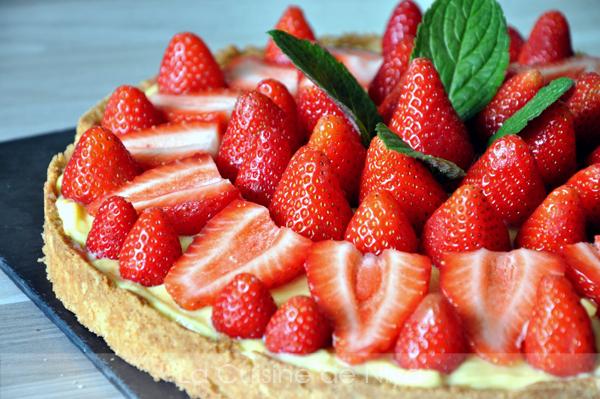 Tarte aux fraises la cuisine de niya - Decoration tarte aux fraises ...