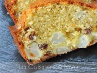 Cake aux poire et raisins secs