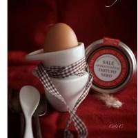 Un semplice Uovo con Sale Grigio al Tartufo, aspettando Natale