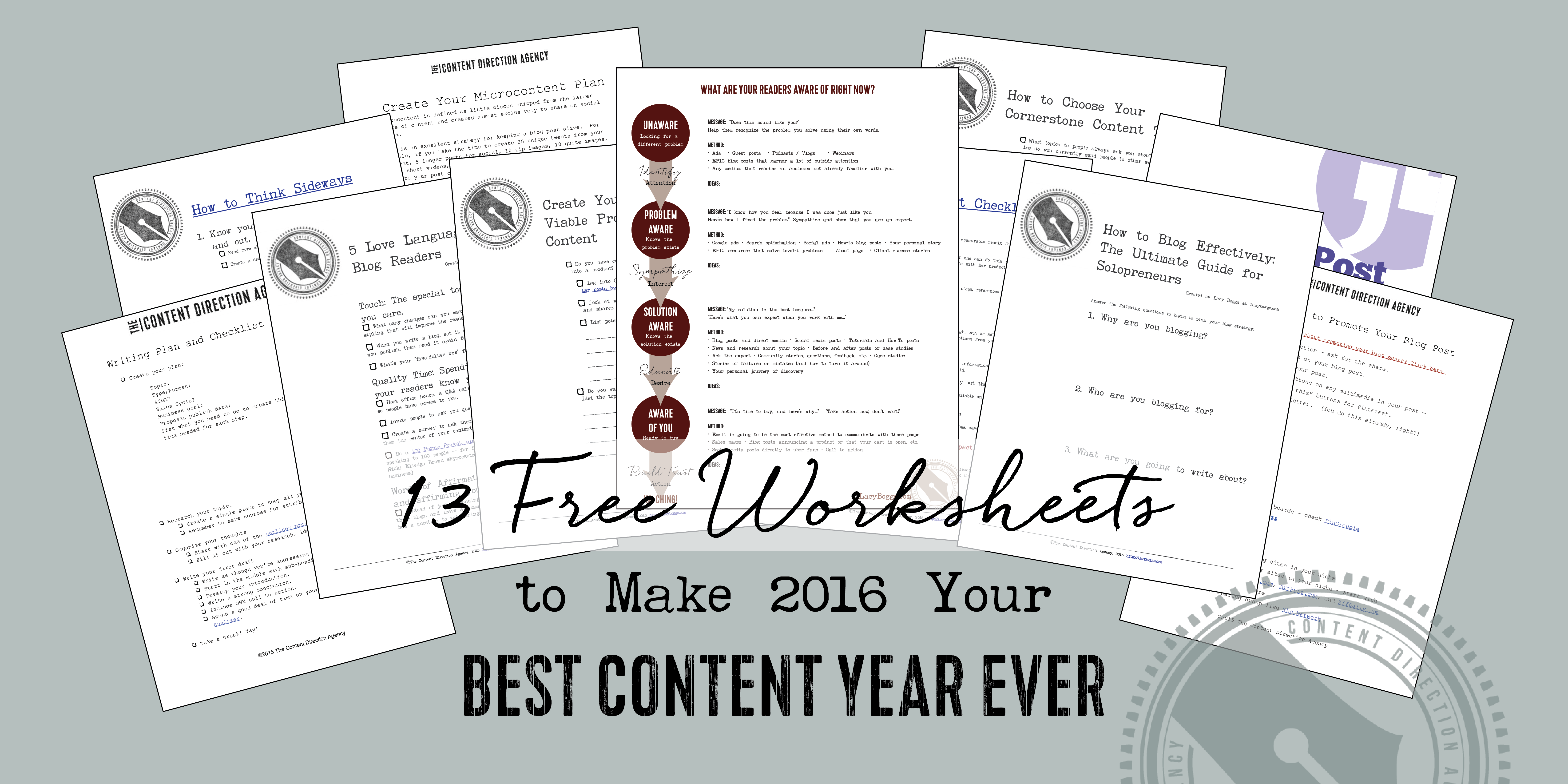 13 Free Content Marketing Worksheets To Make Your