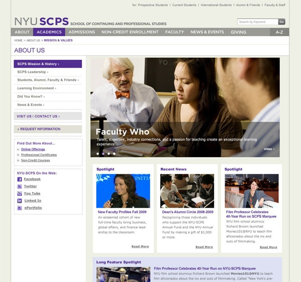NYU School of Continuing and Professional Studies