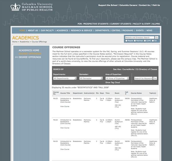 Columbia University: Mailman School of Public Health