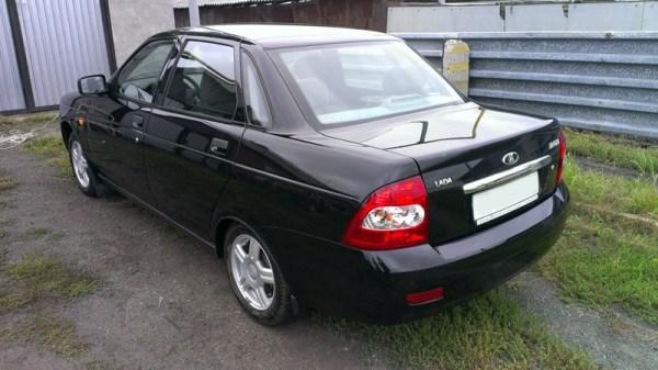 Фото Лада Приора 2 черная в кузове седан / Цвета авто Lada ...