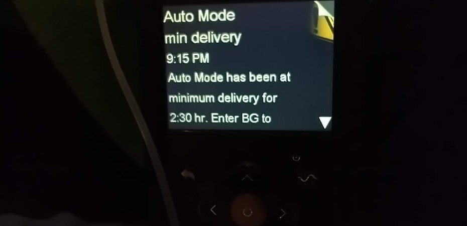 Auto mode min delivery alarm