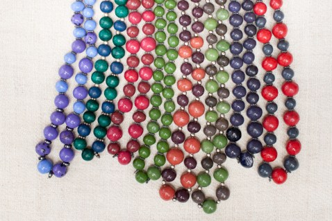 Clay bead necklaces