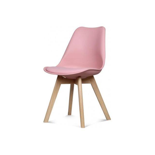 chaise scandinave rose ikea