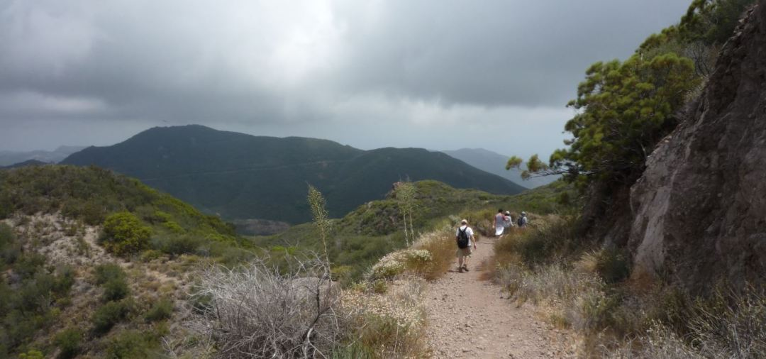 The trail up to Sandstone Peak