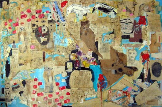 Great Pan 48x72 mixed on panel
