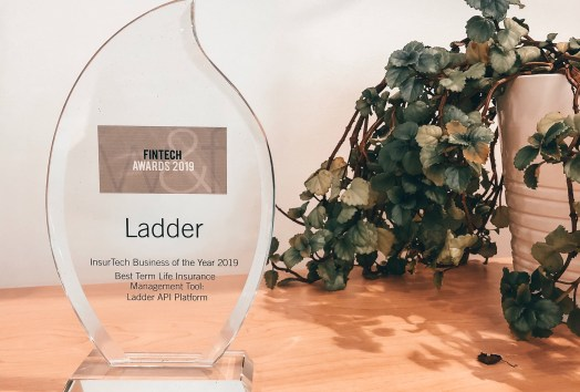 Ladder FinTech Award 2019 - InsurTech Business of the Year 2019 - Best Term Life Insurance Management Tool: Ladder API Platform