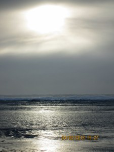 Looking south to the sun overt the North Atlantic
