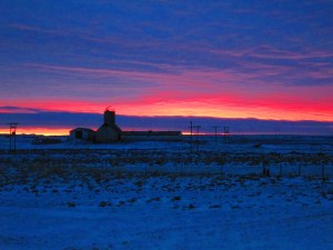 not the Northern Lights, but sunrise near Selfoss