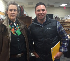 Keynote speaker Temple Grandin with Chris Abel.
