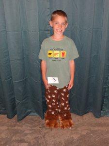 Seamus made these bear paw pajama pants