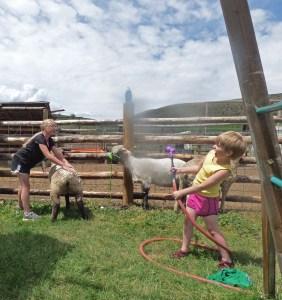 Maeve controls the hose!