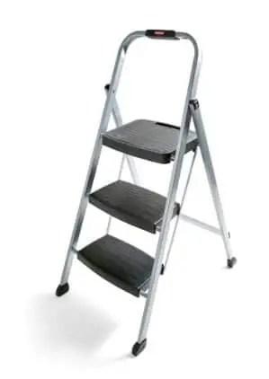 rubbermaid rm-3w folding steel frame stool