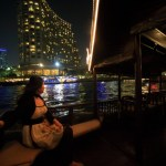 Using the free shuttle boat provided by the Peninsula Bangkok and public boat cruise!