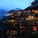 A nostalgic sight created by the red lanterns 'Jioufen at night' and a fantastic night view