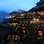 「九份の夜景」赤提灯が創り出すノスタルジックな光景と幻想的な夜景