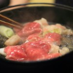 "Matsutake mushrooms ""seasonal cooking Ouchi' autumn King Shizuoka eating in the Sukiyaki with steudel"
