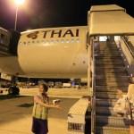 從素萬那普國際機場回到中央日本國際機場名古屋泰國國際航空