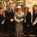 """Palais de Chine Hotel"" Traditional Japanese crafts Matsui Kigyo the ""Shike-Silk"" was presented to women GM!"