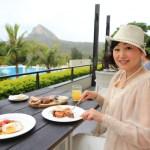 "Kenting Resort Hotel ""Gloria Manor"" Eat on the terrace breakfast of "" MU Lounge"""