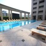 """""""臺北美麗福州大學酒店盛大 Mayfull""""度假村可以享受室內游泳池和健身"""