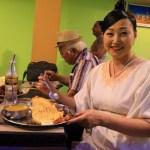 ルンビニのレストラン「Tashi Delek Restaurant」にてテラスディナー