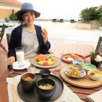 "Buffet breakfast at ""the Ritz-Carlton of Okinawa"" Nago Bay terrace"