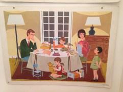 Affiche scolaire Nathan 1966 _ Vie de Famille