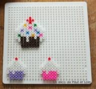 Les perles à repasser cup cakes