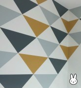 résultat mur triangle repositionnable