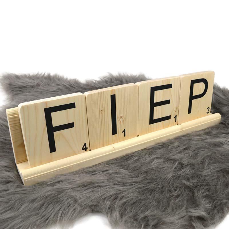 grote houten scrabble letters