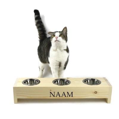 Katten voerbak, 11 cm hoog 57 cm breed