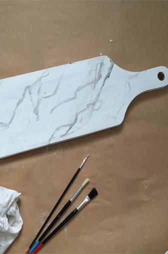 paper board marbre étape peinture