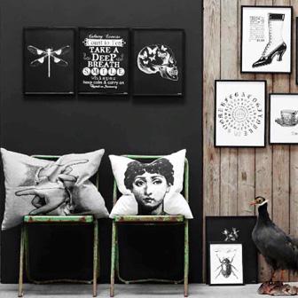 portrait et tableaux noir et blanc
