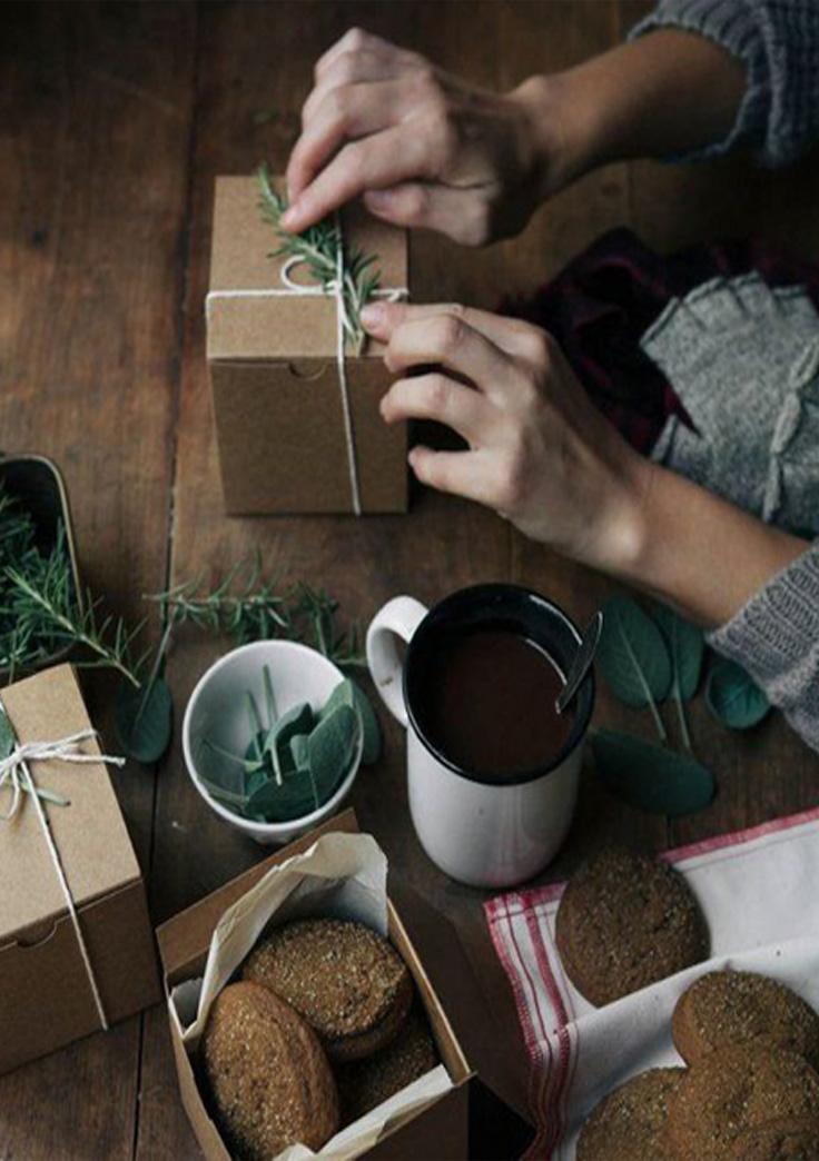 papier cadeau fait main
