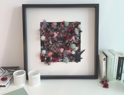 tableau fleuri DIY resultat final