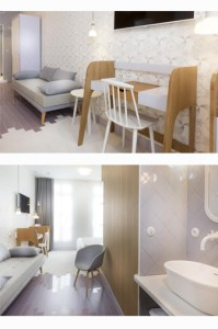 chambre violette lapin blanc