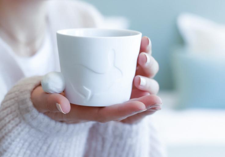 mug rabbit lapin blanc