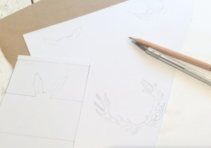 croquis animaux DIY marque place