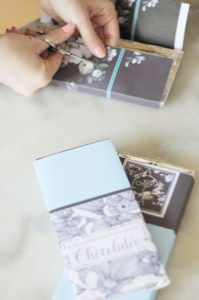 découpe papier pour tablette de chocolat