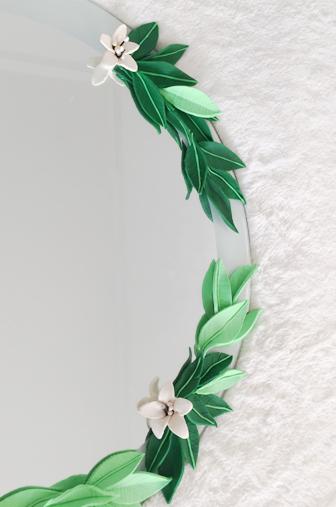 Installation ornement floral
