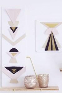 DIY tableaux géométriques et dorés