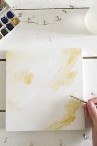 effet de peinture tableaux DIY INSECTES