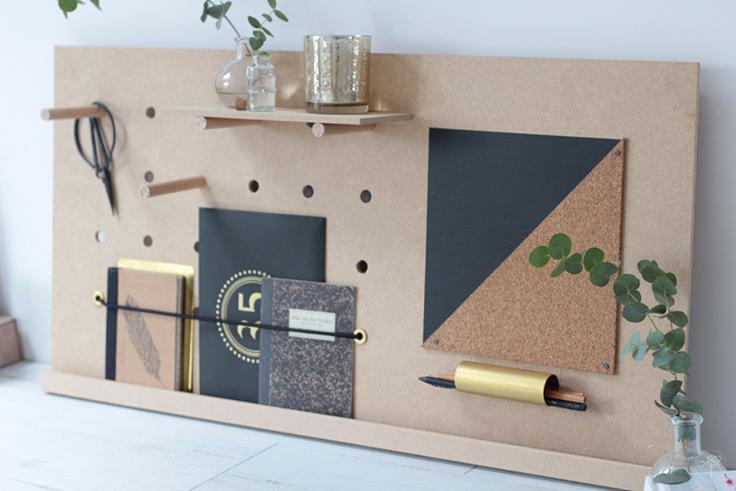 Connu DIY ] Un organizer de bureau façon Peg-Board - La Délicate  RH05
