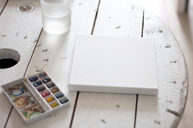 peinture insecte DIY tableaux cousus