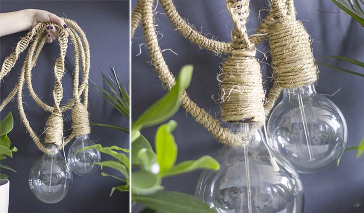 DIY la délicate parenthèse création lampe jungle balladeuse